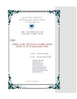 Tiểu luận quản trị điều hành: Chiến lược sản xuất và điều hành công ty cổ phần xi măng Bút Sơn