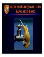 Bài giảng RLCH nước   điện giải cân bằng acid   base