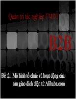 Mô hình tổ chức và hoạt động của sàn giao dich điện tử Alibaba.com