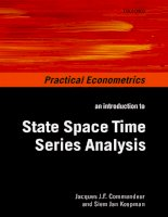 an introduction to state space time series analysis aug 2007