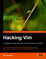 hacking vim a cookbook to get the most out of the latest vim editor