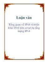 Tổng quan về địa chỉ IPv6 và triển khai IPv6 trên cơ sở hạ tầng mạng IPv4