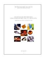 bài giảng công nghệ sản xuất thịt, cá, trứng , sữa..