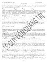 đề thi vật lý tổng hợp 12 đề ôn thi đại học