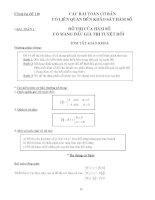 tài liệu ôn thi đại học môn toán tham khảo bồi dưỡng thi Các bài toán có liên quan tới khảo sát hàm số