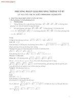 Phương trình, hệ phương trình vô tỉ có hướng dẫn giải