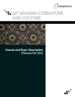 ap spanish literature and culture course and exam description