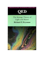 qed, the strange theory of light and matter - r feynman