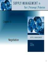 Tài liệu tiếng Anh thương mại quản lý Chapter 16 Negotiation