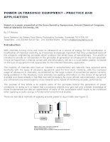 Power ultrasonic equipment   practice and application paper