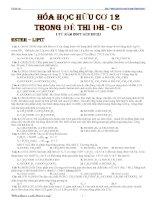 HÓA HỌC HỮU CƠ 12 TRONG ĐỀ THI ĐH -CĐ 2007-2012