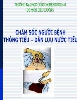 Bài giảng chăm sóc người bệnh thông tiểu   dẫn lưu nước tiểu   GV  vũ văn tiến