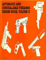 automatic and concealable firearms design book vol ii - paladin press