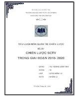 Tiểu luận môn quản trị chiến lược: Chiến lược SCTV trong giai đoạn 2010  2020