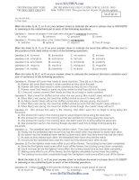 đề thi khảo sát chất lượng lớp 12, lần 2-2013 môn tiếng anh - chuyên