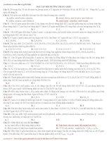 Bài tập bồi dưỡng sinh học phần Amin