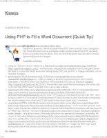 Using PHP to fill a word document