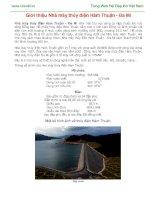 Giới thiệu nhà máy thủy điện hàm thuận đa mi