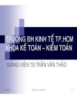 Bài giảng nguyên lý kế toán chương 1   TS  trần văn thảo