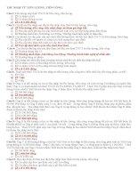 100 câu trắc nghiệm môn Thuế TNDN (có đáp án)