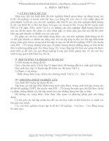 Phương pháp giải các dạng bài tập Vật lý 12  Dao động cơ - Sóng cơ, sóng âm