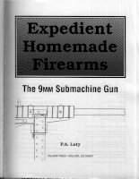 expedient homemade firearms - 9mm submachine gun - p a luty - paladin press