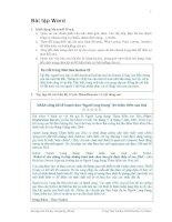 Bài tập microsoft word