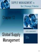 Tài liệu tiếng Anh thương mại quản lý Chapter 12 Global supply management
