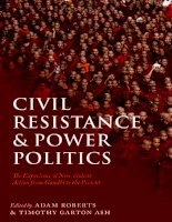 civil resistance and power politics the experience of non-violent action from gandhi to the present nov 2009
