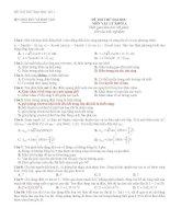 20 đề thi thử vật lý có đáp án 2011