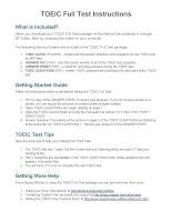TOEIC Full Test Instructions