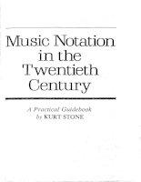 stone k. music notation in the twentieth century