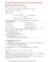 Chuyên đề phương trình và bất phương trình vô tỷ