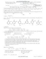 lời giải chi tiết đề thi đại học môn hóa năm 2013