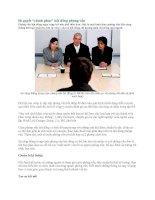 Bí quyết  chinh phục  hội đồng phỏng vấn