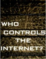 who controls the internet illusions of a borderless world mar 2006