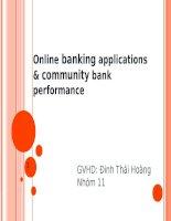 Thuyết trình: Online banking applications  community bank performance