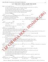 Tổng hợp bài tập về Phi Kim hóa học 2014