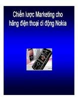 Thuyết trình: Chiến lược Marketing cho hãng điện thoại di động Nokia