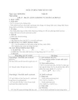 GIÁO án hóa 9 học kì II 2 cột