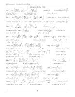 đề cương ôn thi vào 10 môn toán