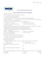 236 câu trắc nghiệm bài tập phần quang học có đáp án