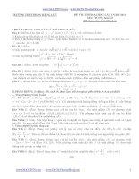 đề thi thử đại học lần 1 môn toán năm 2014 có lời giải chi tiết