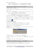 Bài giảng microsoft word 2003