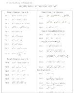 Các dạng bài tập Phương Trình và bất phương trình mũ