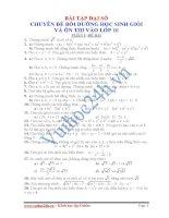 Bài tập đại số. Chuyên đề bồi dưỡng học sinh giỏi và ôn thi vào lớp 10