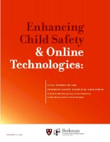 Enhancing child safety and online technologies