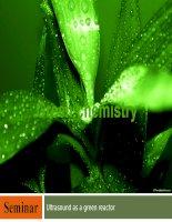 Tính chất và ứng dụng của sóng âm và sóng siêu âm trong hoá học xanh (Green chemistry of ultrasound)