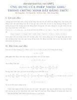 Ứng dụng của phép nhóm Abel trong chứng minh bất đẳng thức