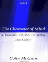 the character of mind an introduction to the philosophy of mind apr 1997